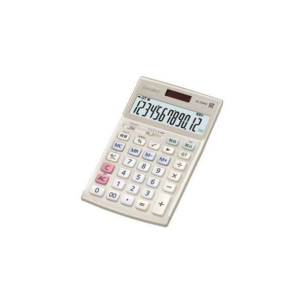 【送料無料】CASIO 本格実務電卓 12桁(ゴールド) JS-20WK-GD