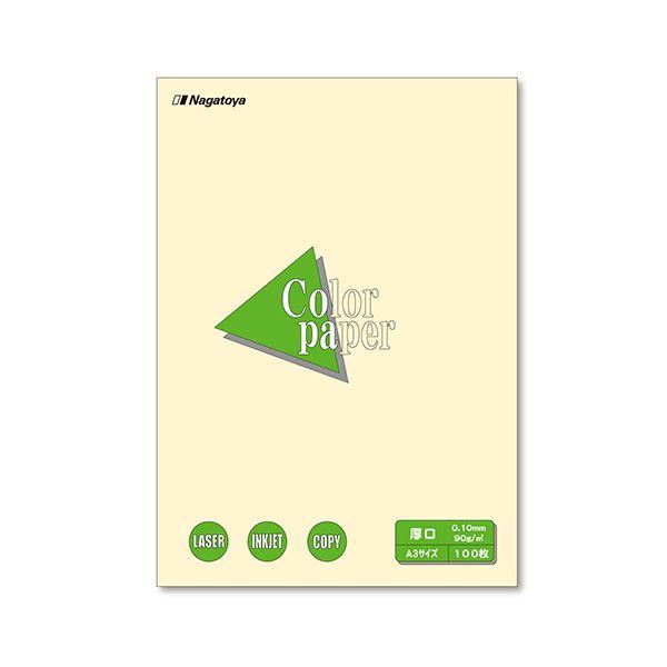 【送料無料】(まとめ) 長門屋商店 Color Paper A3 厚口 レモン ナ-1302 1冊(100枚) 【×10セット】