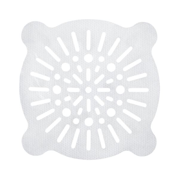 【送料無料】浴室 排水口フィルター/風呂掃除 【丸小 10枚入】 貼ってヘアーストッパー ホワイト レック 【240個セット】