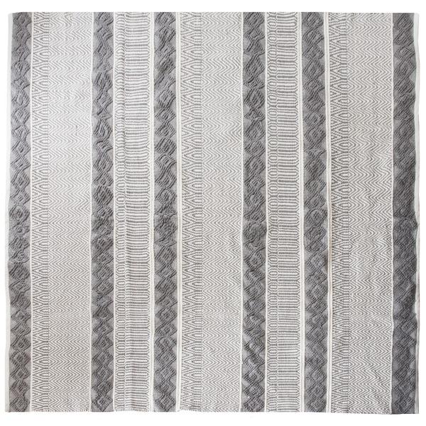 【送料無料】インド綿ラグMASALA 190×190cm トライバル柄 綿100% インド製 RG-TR1919A【代引不可】
