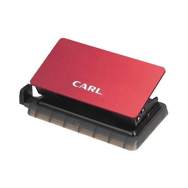 【送料無料】(まとめ) カール事務器 ミスターパンチ 10枚穿孔レッド MRP-10-R 1個 【×10セット】