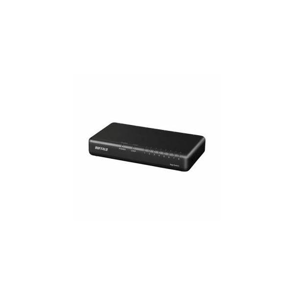 BUFFALO 公式ストア Giga対応 スイッチングハブ 8ポート 安売り ブラックLSW6-GT-8EP ブラック LSW6-GT-8EP BK