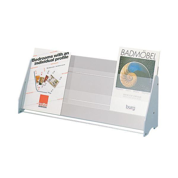 パンフレットや印刷物などをキレイに見せて存在感をアピール 大人気 永遠の定番 送料無料 ライオン事務器 卓上パンフレットスタンドA4 1個 No.320 3列2段