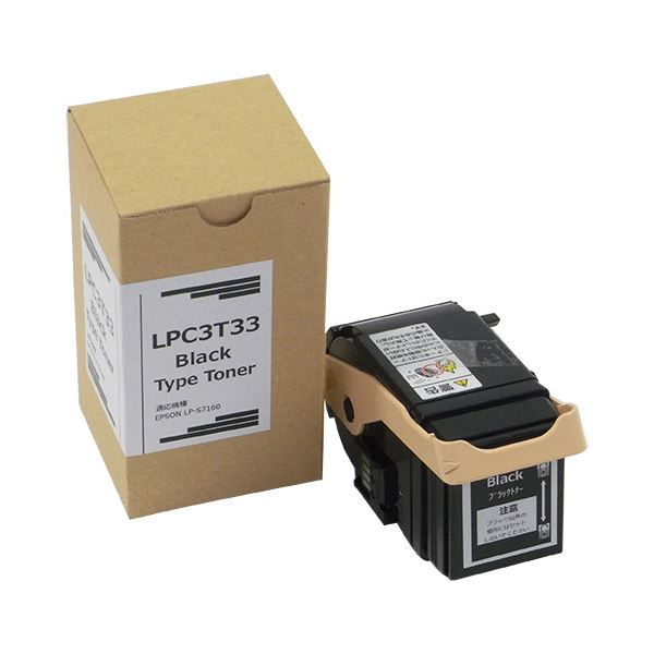 送料無料 トナーカートリッジ LPC3T33K汎用品 ブラック 1個OPuXikZ