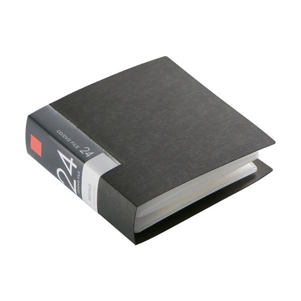【送料無料】(まとめ) バッファローCD&DVDファイルケース ブックタイプ 24枚収納 ブラック BSCD01F24BK 1個 【×30セット】