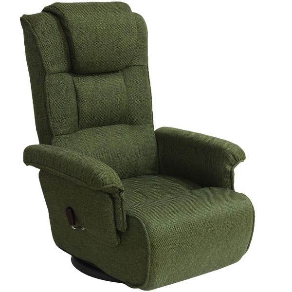 【送料無料】コンパクト高座椅子 グリーン リクライニング調節 MT-1600GS【代引不可】