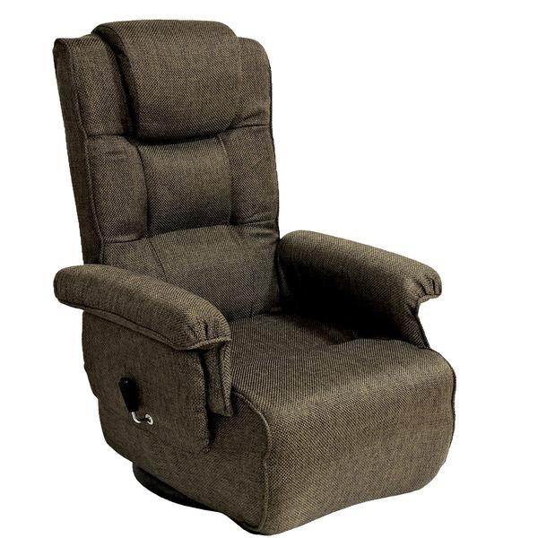 【送料無料】コンパクト高座椅子 ダークブラウン リクライニング調節 MT-1600GS【代引不可】