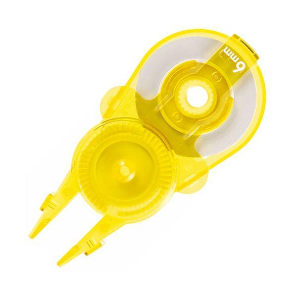 (まとめ) プラス 修正テープ ホワイパースライド交換用テープ 6mm幅×12m イエロー WH-116R-10P YL 1パック(10個) 【×10セット】