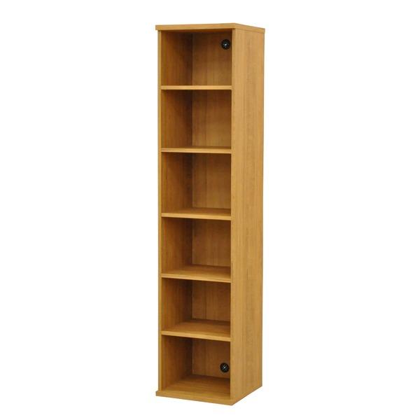 カラーボックス(収納棚/カスタマイズ家具) 6段 幅40×高さ177.9cm セレクト1840BR ブラウン【代引不可】