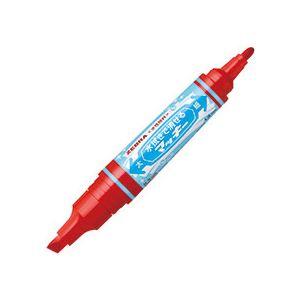 (まとめ) ゼブラ 水拭きで消せるマッキー太字+細字 赤 P-WYT17-R 1本 【×50セット】