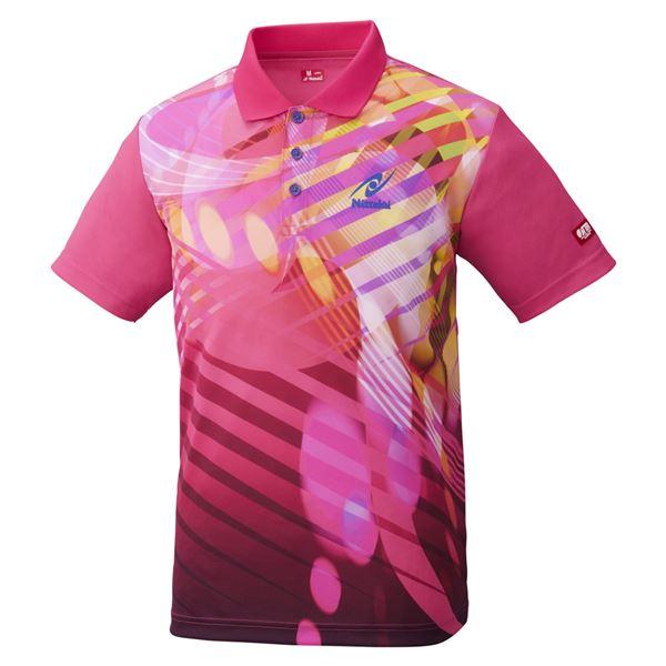 【送料無料】Nittaku(ニッタク) 卓球アパレル TOROPIC SHIRT(トロピックシャツ) 男女兼用 ピンク M