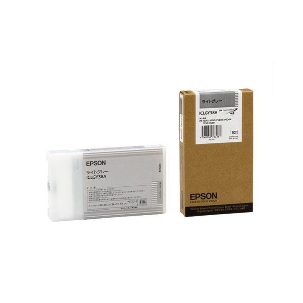 (まとめ) エプソン EPSON PX-P/K3インクカートリッジ ライトグレー 110ml ICLGY38A 1個 【×10セット】