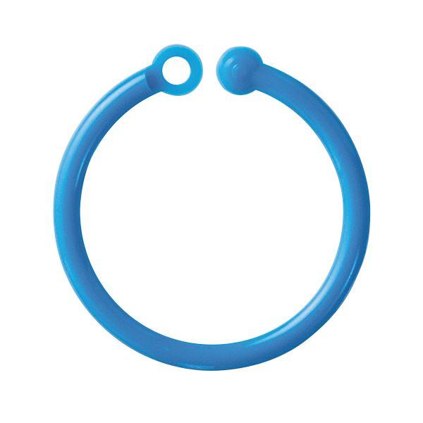 【送料無料】(まとめ) ミツヤ カラープラリング 内径20mm青 CCR-04-50P-BU 1パック(50本) 【×30セット】