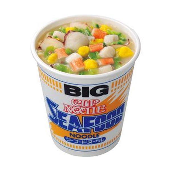 【送料無料】(まとめ)日清食品 カップ ヌードルシーフードヌードル ビッグ 104g 1ケース(12食)【×4セット】