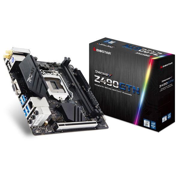 【送料無料】BIOSTAR Intel Z490 Chipset搭載Mini-ITXマザーボード/Intel 10th GenCPU Socket LGA1200対応/DDR4-4400+MHz(OC)対応/HDMI 1.4b x1 + D-SUB 15pinx1 オンボード出力端子搭載 Z490GTN