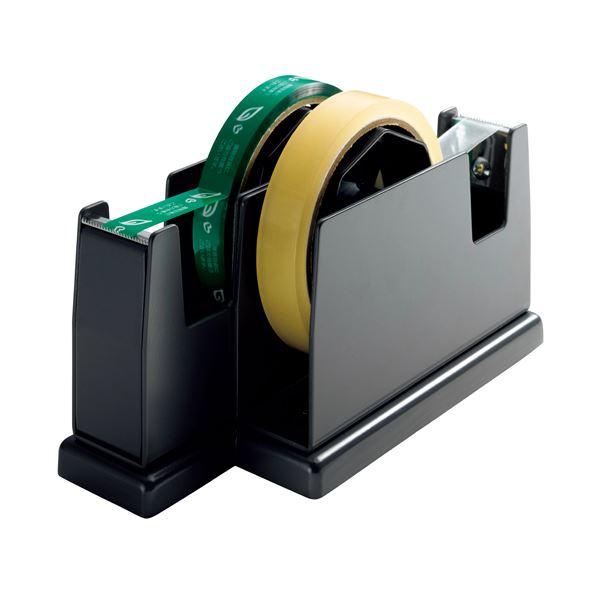 【送料無料】(まとめ) オープン工業 ペアカッター 大巻・小巻両用 W82×D200×H109mm 黒 TD-200-BK 1台 【×10セット】