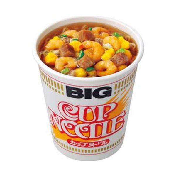 【送料無料】(まとめ)日清食品 カップ ヌードル ビッグ100g 1ケース(12食)【×4セット】