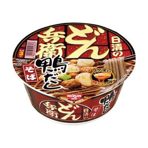 【送料無料】(まとめ)日清食品 日清のどん兵衛 鴨だしそば105g 1ケース(12食)【×4セット】