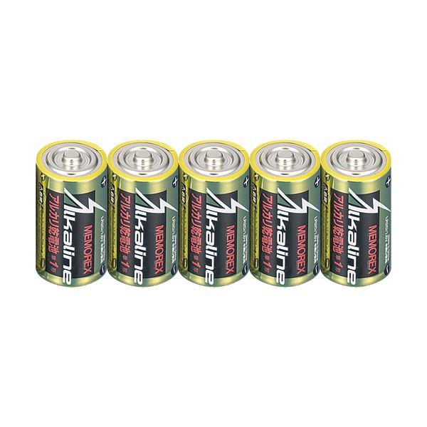 (まとめ) メモレックス・テレックス アルカリ乾電池単1形 LR20/1.5V/10S 1セット(30本:10本×3パック) 【×5セット】