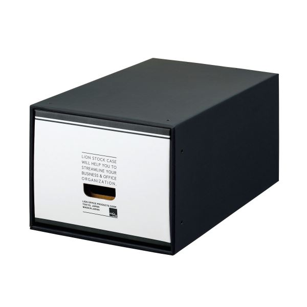 【送料無料】(まとめ) ライオン事務器 ストックケース A4用大 ブラックタイプ SC-41L 1個 【×5セット】