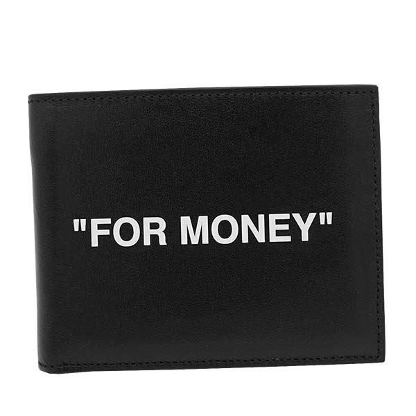 【送料無料】OFF-WHITE(オフホワイト) 2つ折小銭付き財布 OMNC008R20853038 1001 BLACK WHITE