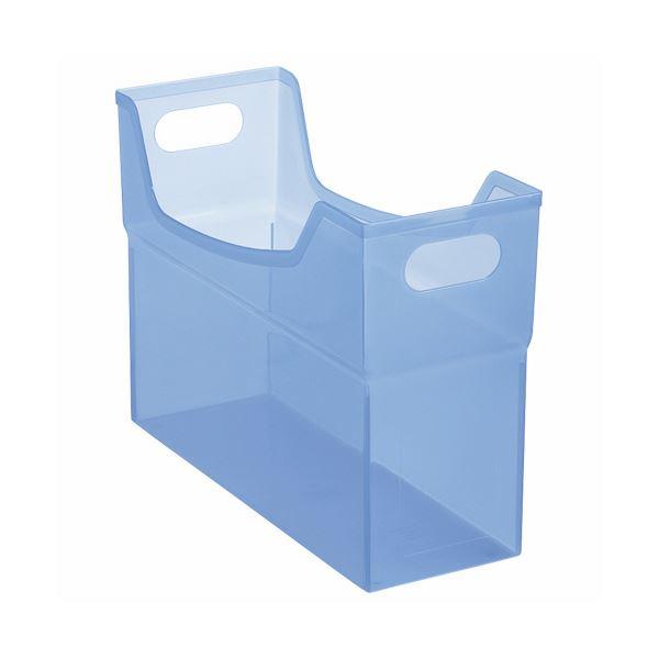 書類や小物の整理に便利なフリーボックス 送料無料 まとめ 開店記念セール ライオン事務器 フリーボックス PP製 1個 開店祝い CS-110P A4ヨコ ×10セット ブルー 背幅127mm