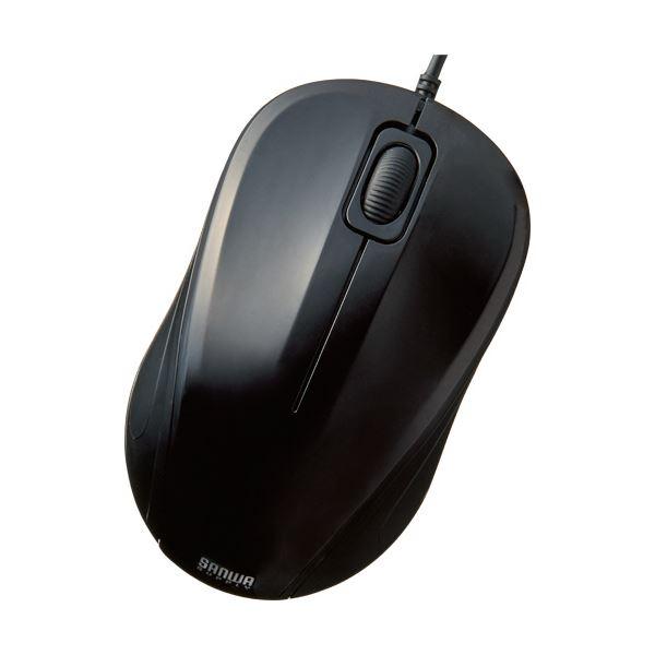 【送料無料】(まとめ) サンワサプライ 3ボタン BlueLED静音マウス/有線 ブラック MA-TMBL1BK 1個 【×10セット】
