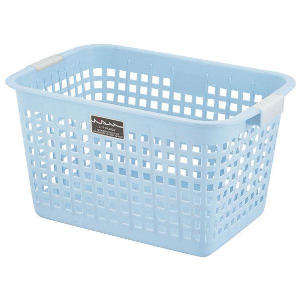 【送料無料】(まとめ) ニューキングバスケット/収納かご 【ブルー】 持ち手付き 洗濯かご おもちゃ収納 クローゼット収納 【16個セット】
