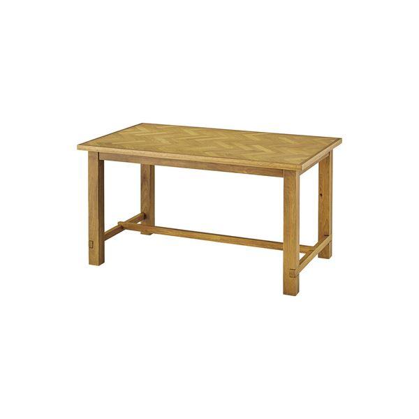 【送料無料】シンプル ダイニングテーブル 【ナチュラル 幅135cm】 木製 ウレタン塗装 『クーパス』 〔リビング キッチン 店舗 飲食店〕【代引不可】