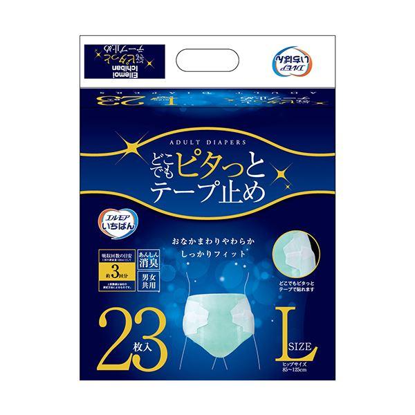 【送料無料】カミ商事 エルモア いちばんどこでもピタっとテープ止め Lサイズ 1セット(92枚:23枚×4パック)
