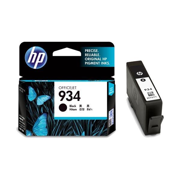 (まとめ) HP インクカートリッジHP934 C2P19AA 黒【×5セット】