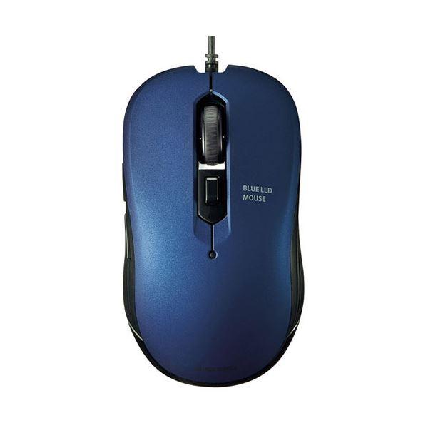 【送料無料】(まとめ) サンワサプライ 有線ブルーLEDマウスブルー MA-BL114BL 1個 【×10セット】