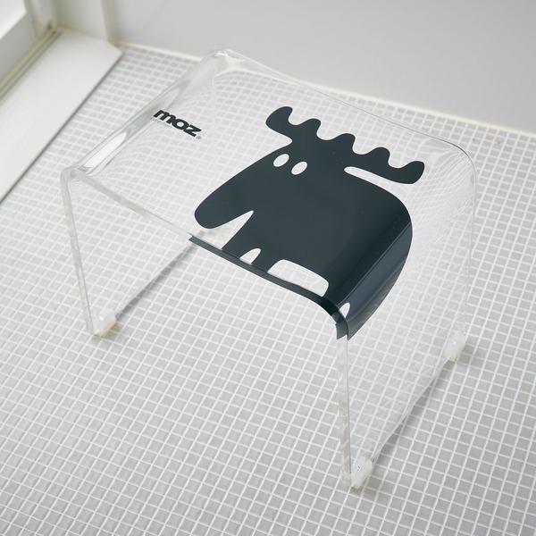 【送料無料】un bain × moz アクリル製バスチェア クリア