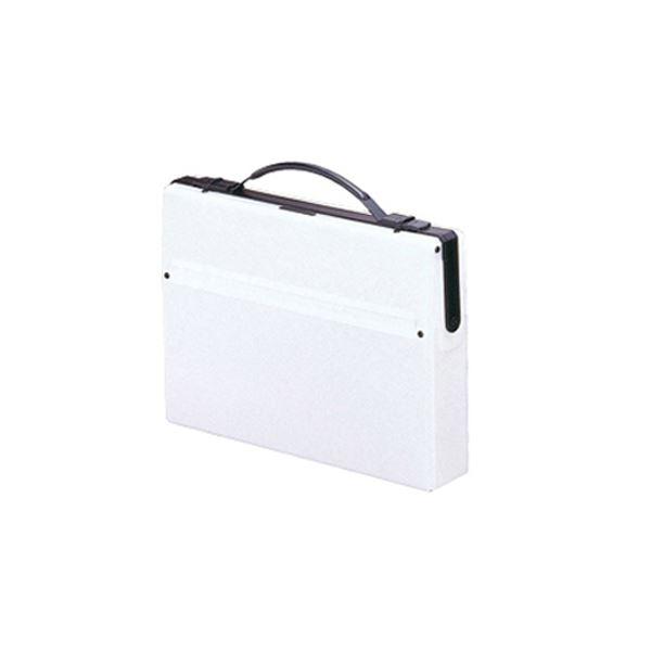 (まとめ) LIHIT LAB ダレスバッグ A4 白【×5セット】