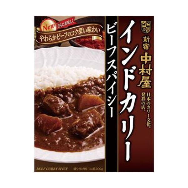 【送料無料】(まとめ)中村屋 インドカリー ビーフスパイシー200g 1パック(5食)【×10セット】