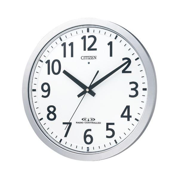 【送料無料】シチズン 電波掛時計シルバーメタリック(白) 8MY462-019 1台