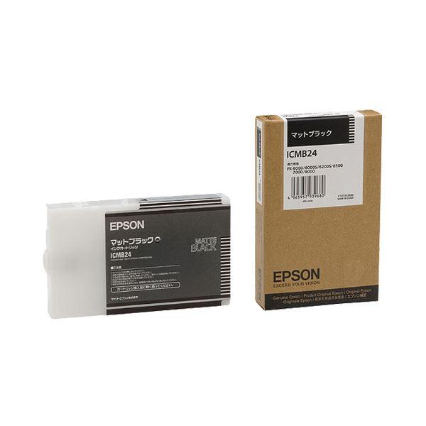 (まとめ) エプソン EPSON PX-P/K3インクカートリッジ マットブラック 110ml ICMB24 1個 【×10セット】