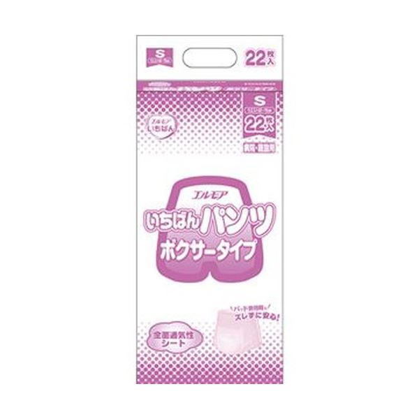 【送料無料】(まとめ)カミ商事 エルモア いちばん パンツボクサータイプ S 1パック(22枚)【×10セット】
