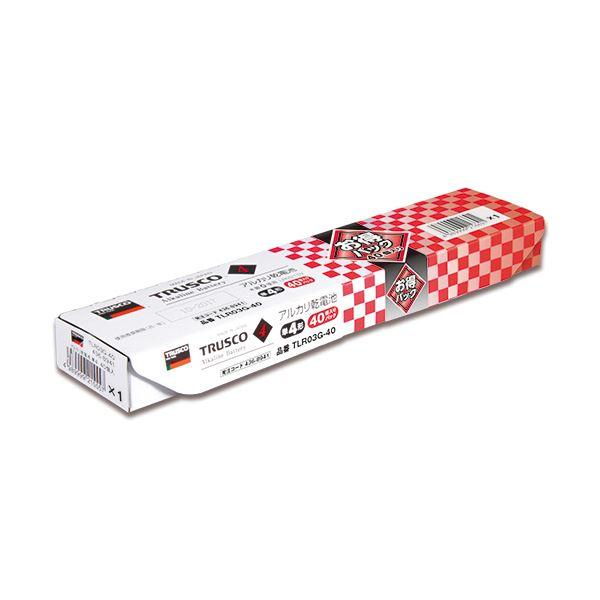 (まとめ) TRUSCO アルカリ乾電池 単4お得パック TLR03G-40 1パック(40本) 【×10セット】