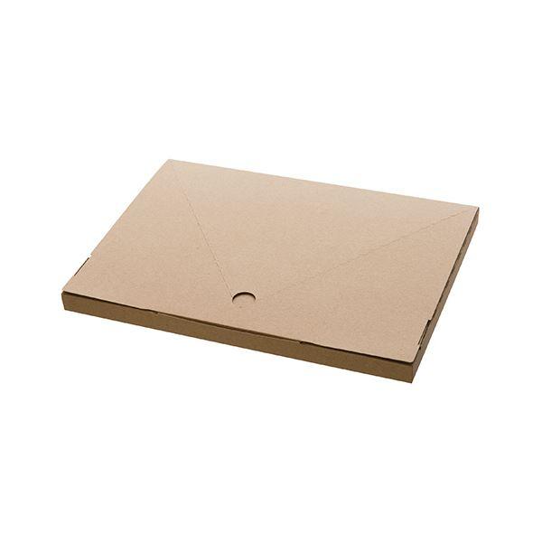 【送料無料】(まとめ) ヘッズ 無地コンパクト宅配ボックスW320×D20×H225mm M-TBX1 1パック(20枚) 【×10セット】