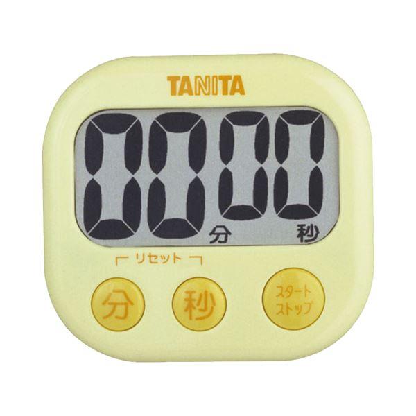 【送料無料】(まとめ) タニタ でか見えタイマー イエロー TD-384YL 1個 【×10セット】