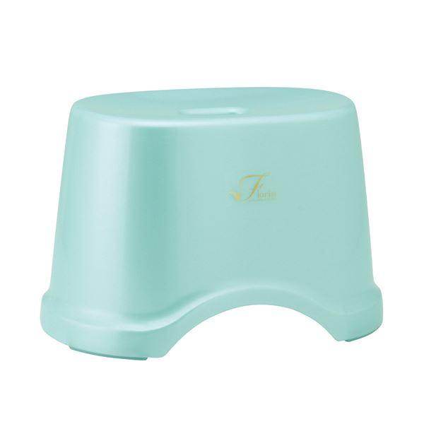 【送料無料】(まとめ) 風呂椅子/バスチェア 【高さ22cm ブルー】 コンパクトサイズ 底ゴム付き バス用品 『Florist』 【12個セット】