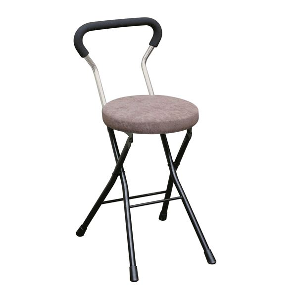 【送料無料】折りたたみ椅子 【4脚セット ブラウン×ブラック】 幅33cm 日本製 スチールパイプ 『ソニッククッションチェア』【代引不可】