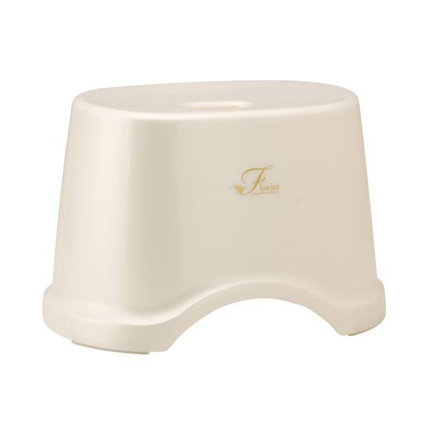 【送料無料】(まとめ) 風呂椅子/バスチェア 【高さ22cm ホワイト】 コンパクトサイズ 底ゴム付き バス用品 『Florist』 【12個セット】