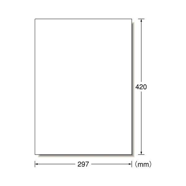 【送料無料】エーワン ラベルシール[プリンタ兼用]マット紙・ホワイト A3判 ノーカット 28424 1冊(100シート)
