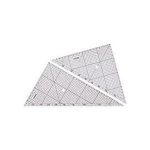 (まとめ) ステッドラー レイアウト用方眼三角定規30cm 45°・60°ペア 966 30 1組 【×10セット】
