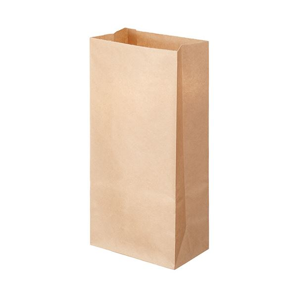 【送料無料】(まとめ) TANOSEE 角底袋 8号ヨコ155×タテ320×マチ幅95mm 未晒 1パック(500枚) 【×10セット】