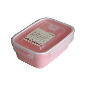 【送料無料】(まとめ) 保存容器/スマートフラップ&ロックス 【900ml L 1P ピンク】 電子レンジ・冷凍庫可 日本製 【×60個セット】