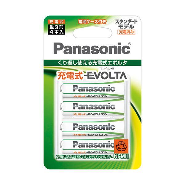 【送料無料】(まとめ) パナソニック ニッケル水素電池充電式EVOLTA スタンダードモデル 単3形 BK-3MLE/4BC 1パック(4本) 【×10セット】