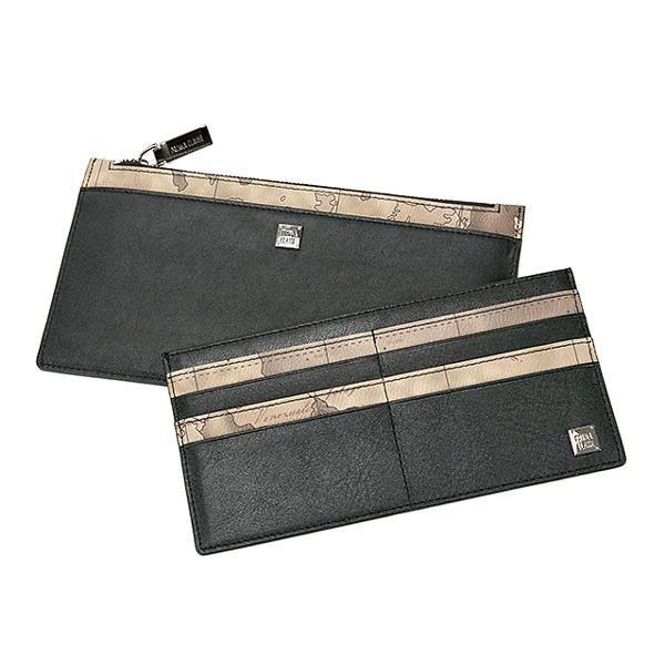 【送料無料】PRIMA CLASSE(プリマクラッセ)カードポケット出し入れ可能スリムなジップ長財布/グレイ